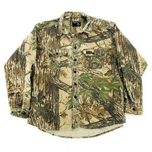 Rattlers Brand Vintage Realtree Camo Button XL USA
